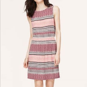 LOFT pink tribal print sleeveless dress - small
